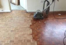 Floor during sanding
